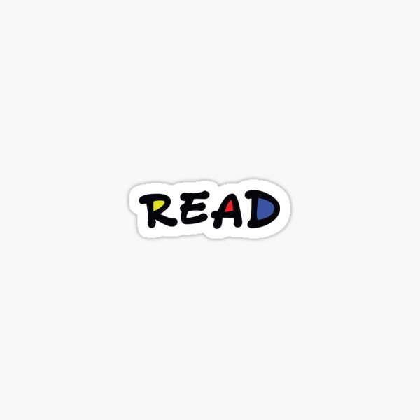 """Colorful """"Read"""" to express yourself! Sticker"""