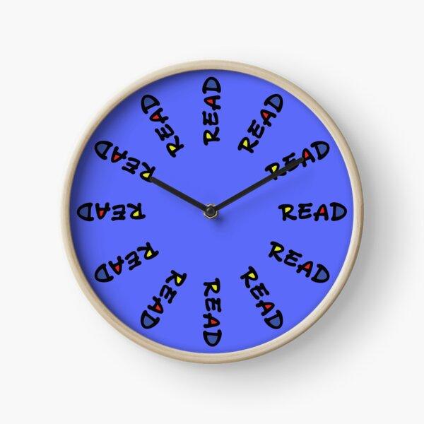"Blue ""Read"" Clock"