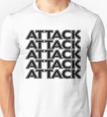Attack (x5) !!! Unisex T-Shirt