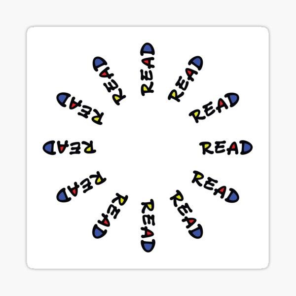 """White """"Read""""  Sticker"""