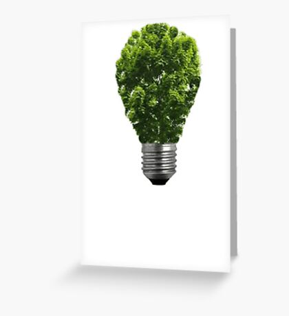 Green Lightbulb Greeting Card