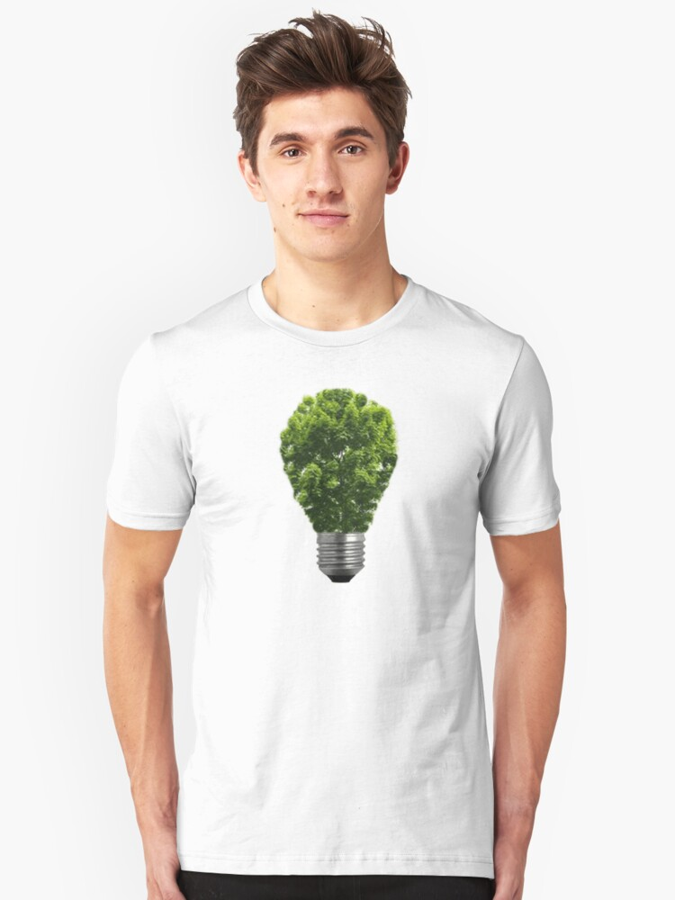 Green Lightbulb Unisex T-Shirt Front