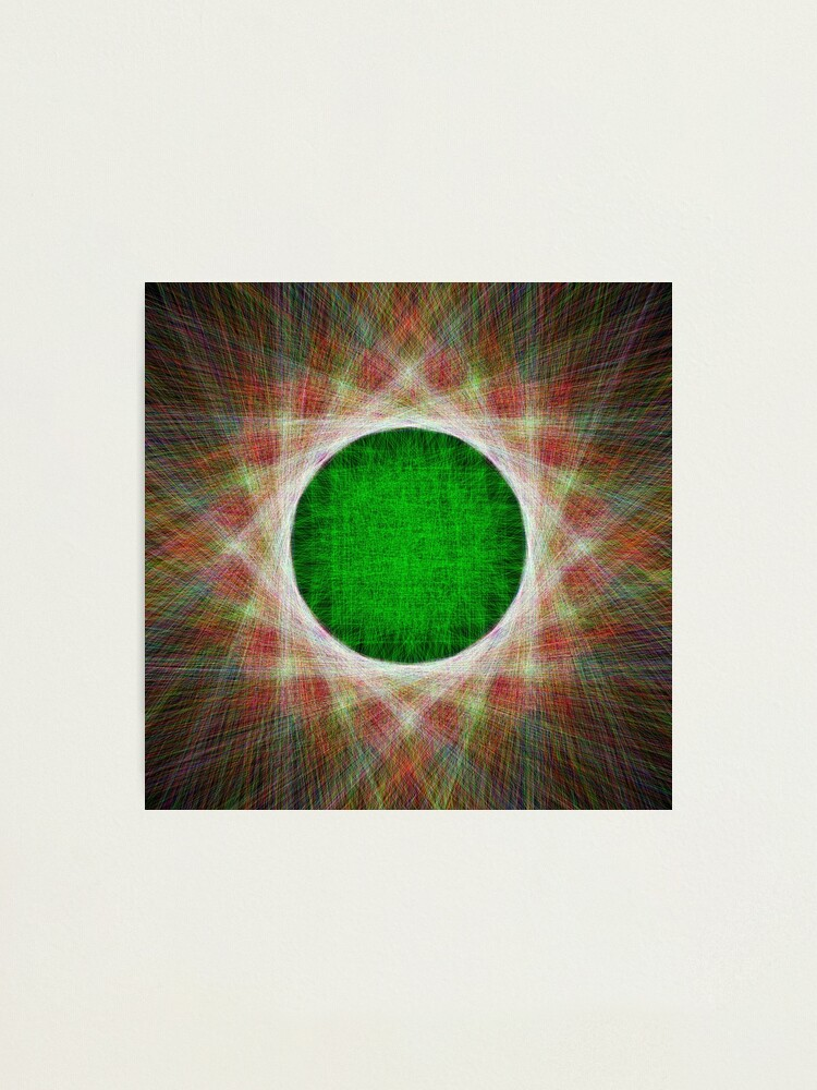 Alternate view of Green Button Planet Photographic Print