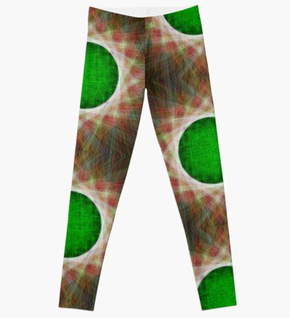 Green Button Planet Leggings