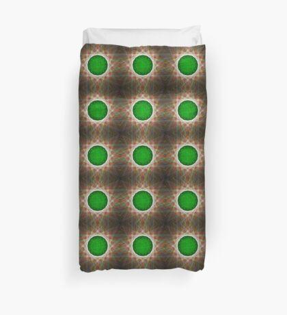 Green Button Planet Duvet Cover