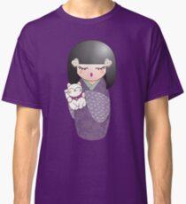 Kokeshi and maneki neko Classic T-Shirt