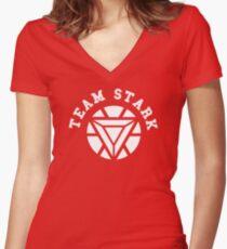 Team Stark - new reactor Women's Fitted V-Neck T-Shirt