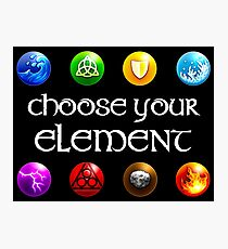 Magicka, choose your element (4x2) Photographic Print