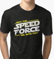 May The Speed Force Be With You Tri-blend T-Shirt