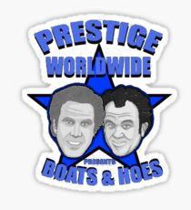 Prestige worldwide presents boats & hoes Sticker