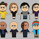 BREAKING BAD - MAIN CHARACTERS CHIBI - AMC BREAKING BAD - MANGA BAD by ptelling