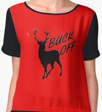 Buck off Deer Women's Chiffon Top