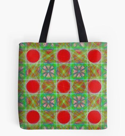 Nine Red Button Planets Tote Bag