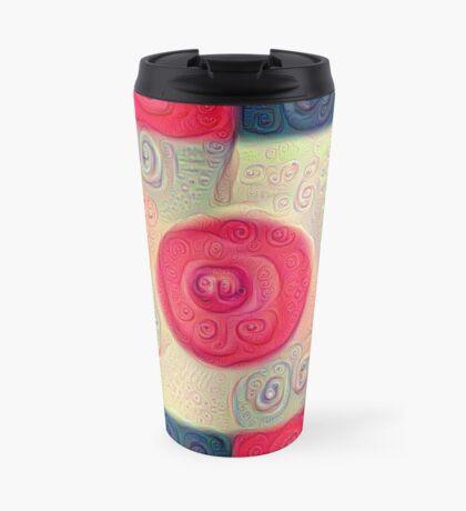 DeepDream Color Squares Visual Areas 5x5K v18 Travel Mug