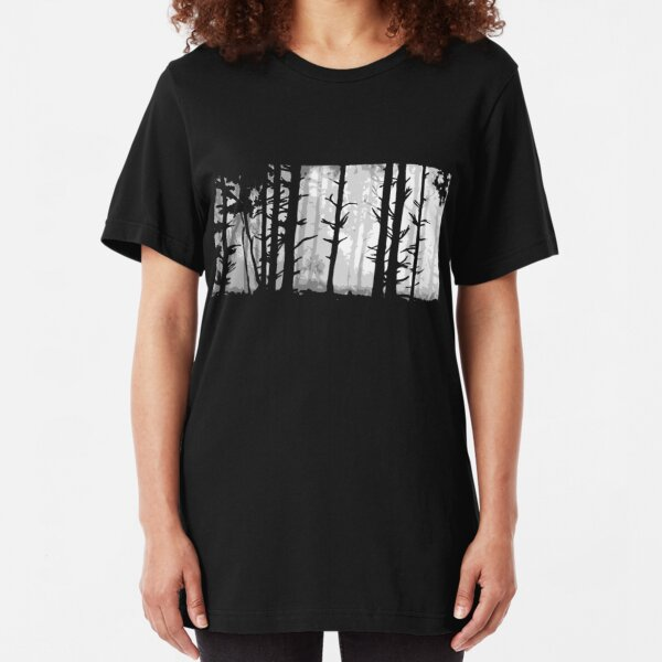 Deep In the Forest Slim Fit T-Shirt