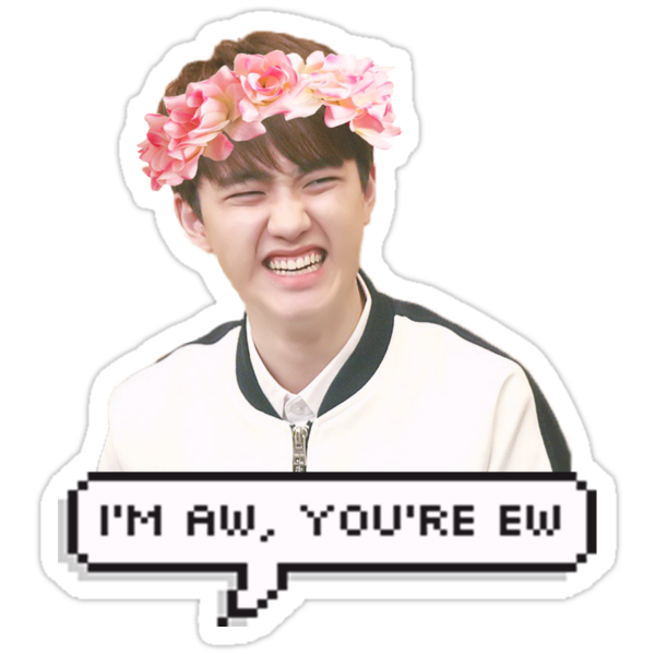 Quot Do Kyungsoo D O Exo Quot Stickers By Bymikayla Redbubble