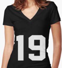 Team Jersey 19 T-shirt / Football, Soccer, Baseball Women's Fitted V-Neck T-Shirt