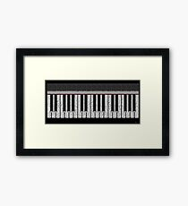 Piano Keys Rhythmic Deco  Framed Print