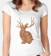 The Paisley Rabbit Women's Fitted Scoop T-Shirt