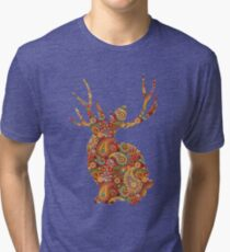 The Paisley Rabbit Tri-blend T-Shirt