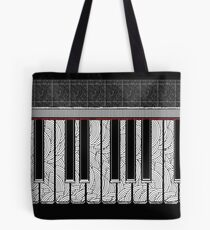 Piano Keys Rhythmic Deco  Tote Bag