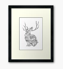 The Stripy Rabbit Framed Print