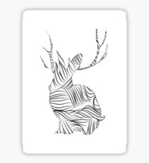 The Stripy Rabbit Sticker