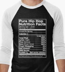 Pure Hip Hop Nutrition Facts Men's Baseball ¾ T-Shirt