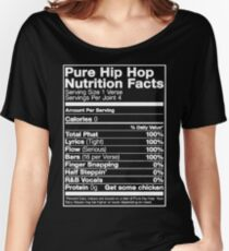 Pure Hip Hop Nutrition Facts Women's Relaxed Fit T-Shirt