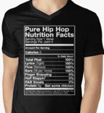Pure Hip Hop Nutrition Facts Men's V-Neck T-Shirt