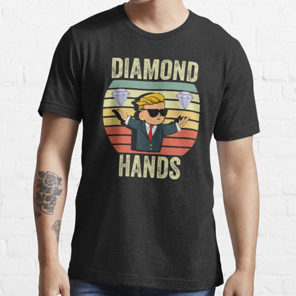 Diamond Hand  To The Moon Essential T-Shirt