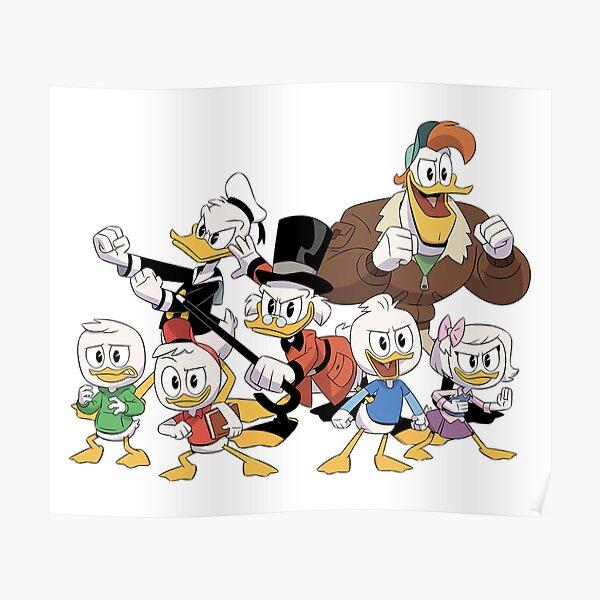 glückliches erstaunliches ducktales Kunstgeschenk Poster