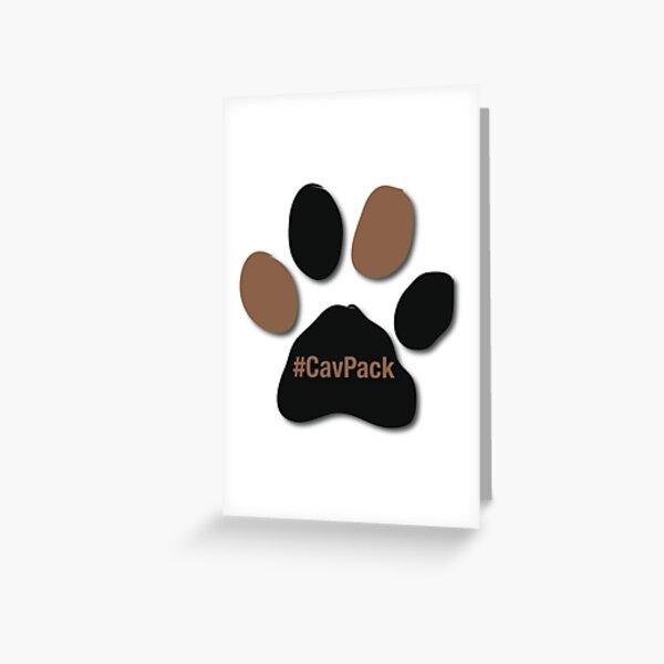 Black & Tan Paw CavPack Greeting Card