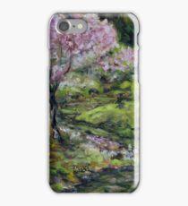 Cherry Blossoms Mayne Island Japanese Garden iPhone Case/Skin