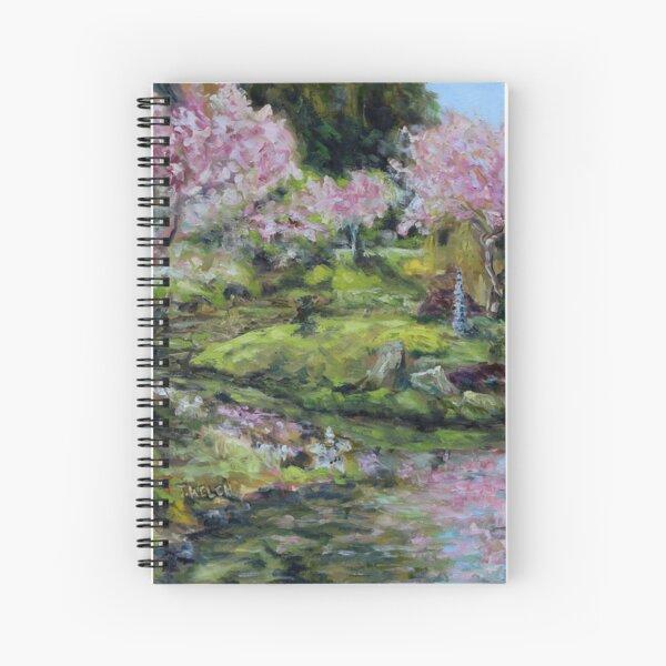 Cherry Blossoms Mayne Island Japanese Garden Spiral Notebook