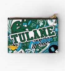 Tulane Collage  Studio Pouch