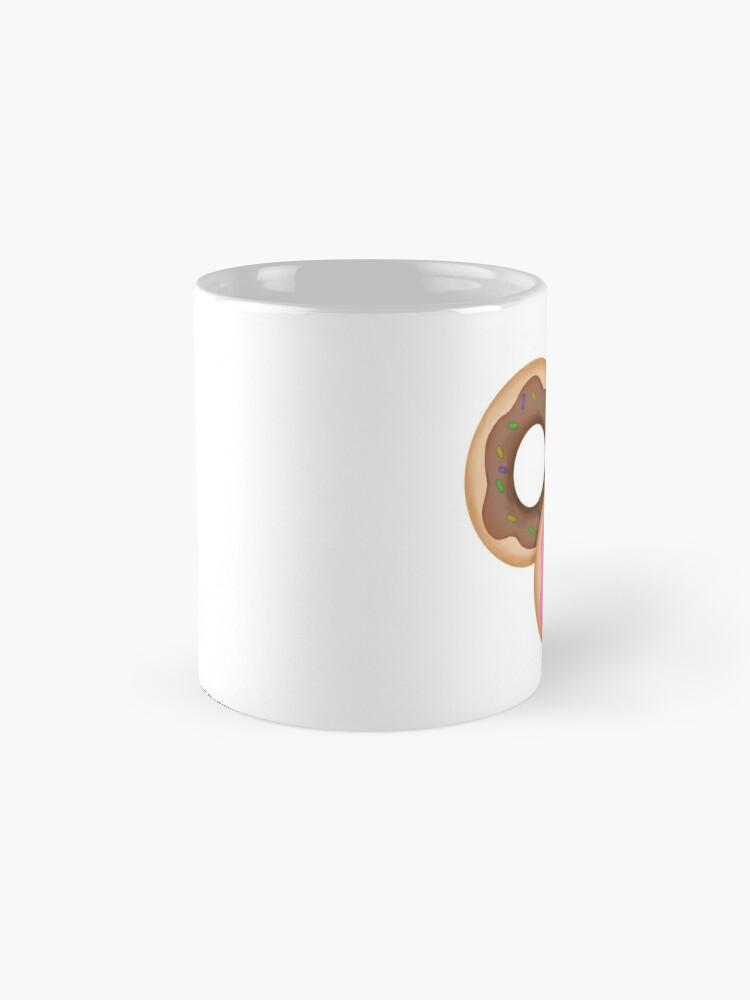 Alternate view of Donut Trio Pink Blue Brown Mug