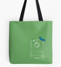 the camera and the butterfly Tote Bag