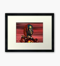 ARES CYBORG FROM HYPERION WORLD Sci-Fi Movie Framed Print