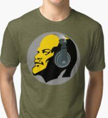 Lenin with Headphones Tri-blend T-Shirt