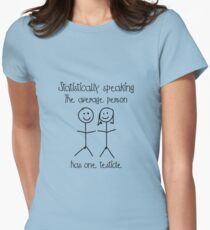 One testicle Women's Fitted T-Shirt