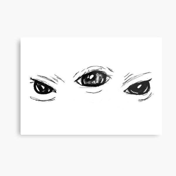 Eyes Sketch  Metal Print