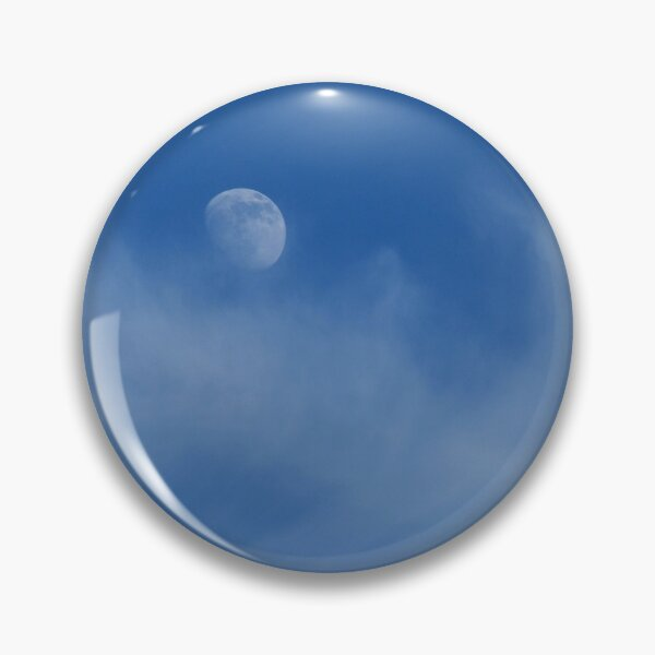 Blue Moon Wispy Clouds Photo Pin
