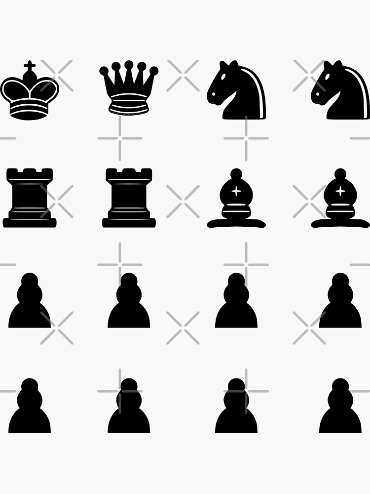 Complete Chess Set 1 - Black Chess Pieces by ChloeJoyeux