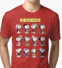 Snoopy Doctors Collage Tri-blend T-Shirt