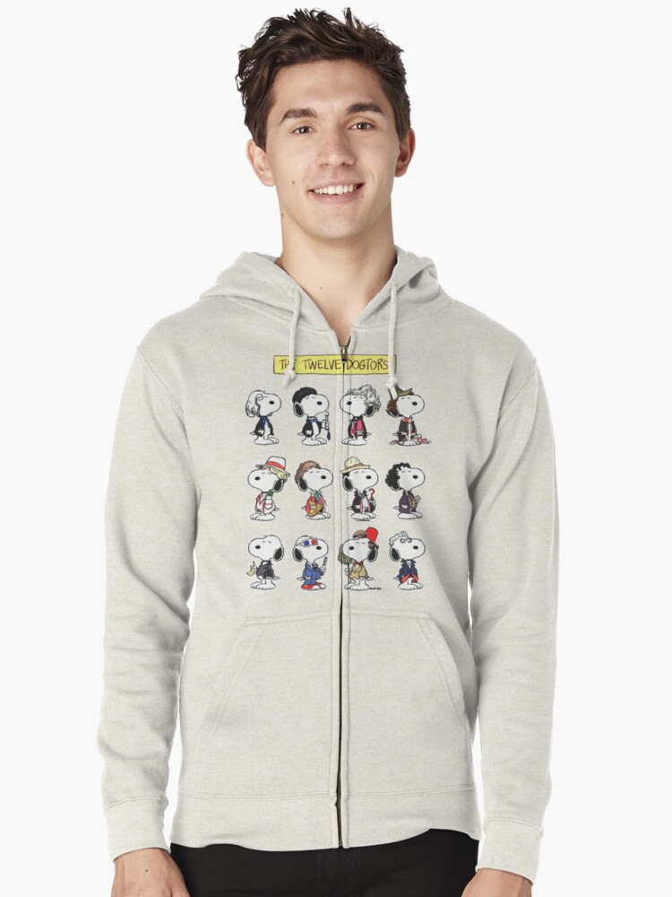 Snoopy Doctors Collage Zipped Hoodie Front