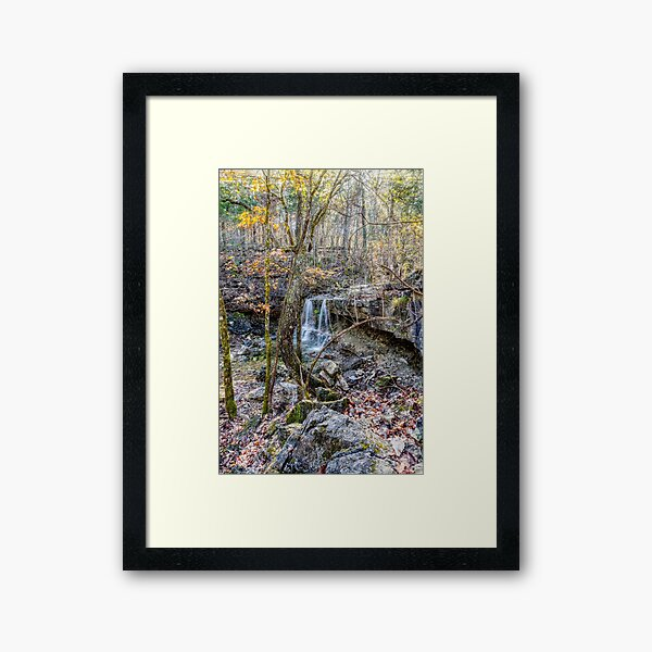 Henning Waterfall In The Woods Framed Art Print