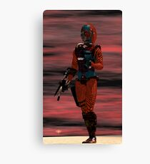 ARES CYBORG FROM HYPERION WORLD Sci-Fi Movie Canvas Print