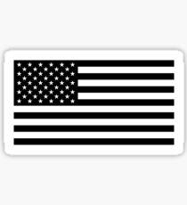 Amerikanische Flagge - Schwarz-Weiß-Version Sticker