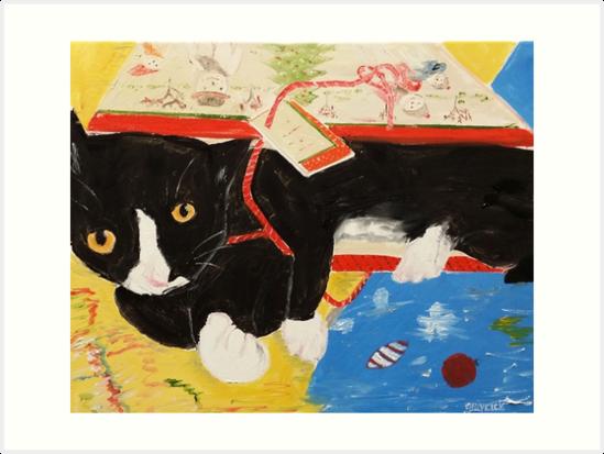 George Myrick - Christmas Bag Cat by Jon Winston